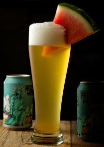 Hell or High Watermelon, 21st Amendment Brewery as photographed back in my studio in Ohio - © Michael Warth