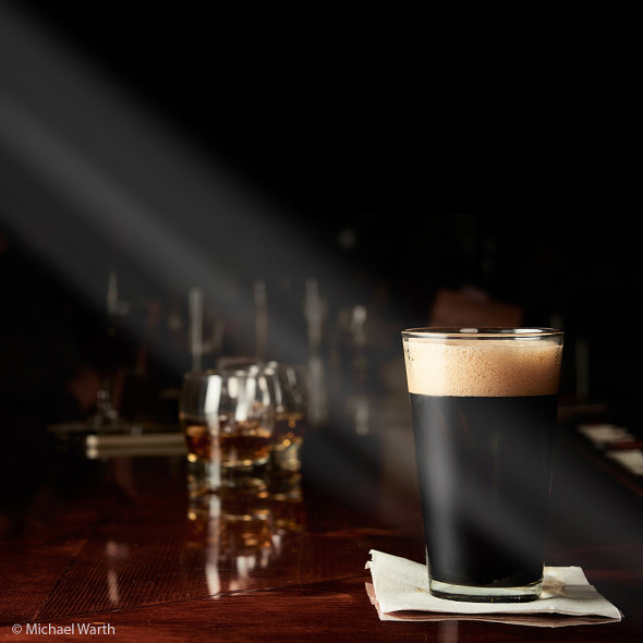 Drinking a Jackie O's brew at the bar - © Michael Warth