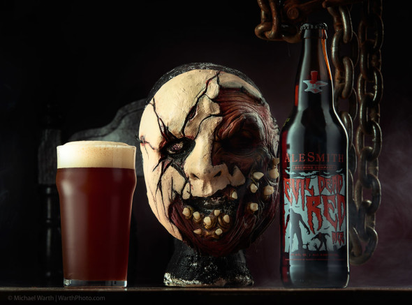 Evil Dead Red Ale by Alesmith Brewing, and TK (mask info) - © Michael Warth